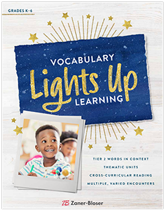 Vocabulary Lights Up Learning brochure cover