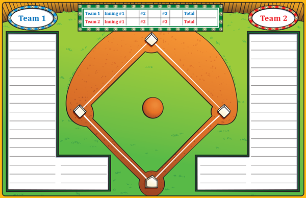Baseball Game Mat