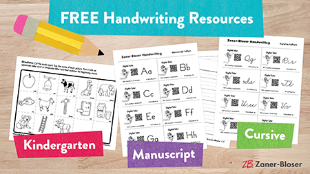 FREE Handwriting Resources. Kindergarten, Manuscript, Cursive