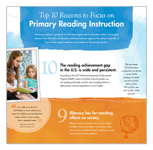 Top 10 reasons to focus on primary reading instruction