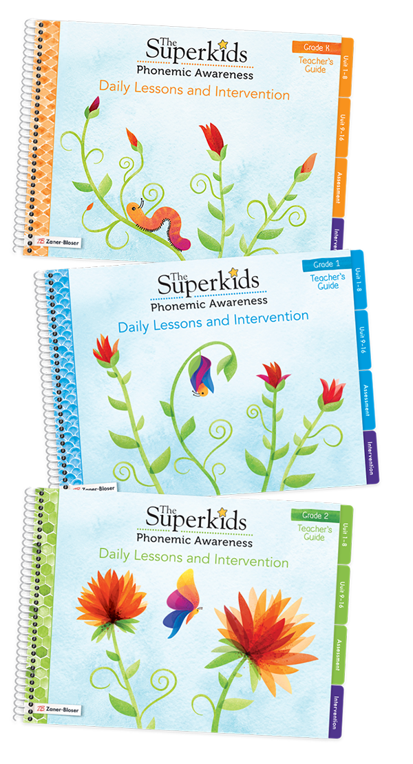 The Superkids Phonemic Awareness lesson books